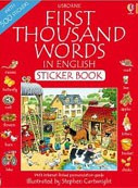 First 1000 Words in English Sticker Book (Amery, H. - Cartwright, S.)