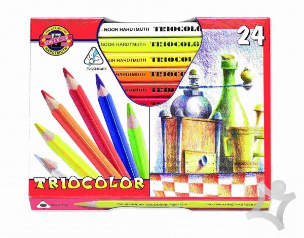 852935591 Trojhranné pastelky umelecké - 24 ks - Farbičky, pastelky, voskovky ...
