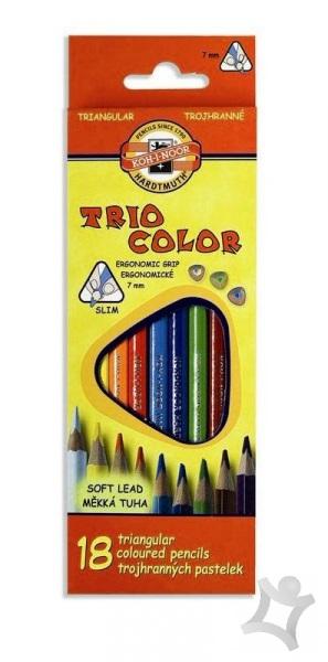 5145f3a30 Trojhranné školské pastelky - 18 ks - Farbičky, pastelky, voskovky ...