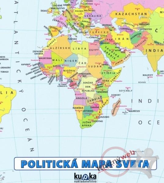Politicka Mapa Sveta Mapa Pre Zakladne Skoly Preskoly Sk