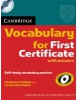 Cambridge Vocabulary for First Certificate Edition with Answers + CD (Matthews, L. - Thomas, B.)