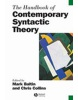 The Handbook of Contemporary Syntactic Theory (Blackwell Handbooks in Linguistics) (Baltin, M. - Collins, C.)
