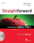 Straightforward 2nd Edition Intermediate Workbook bez kľúča + CD (Waterman, J.)