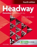 New Headway, 4th Edition Elementary Workbook with Key + iChecker CD (Soars, J. - Soars, L.)