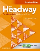 New Headway, 4th Edition Pre-Intermediate Workbook with Key (2019 Edition) (Soars, J. - Soars, L.)