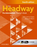 New Headway, 4th Edition Pre-Intermediate Teacher's Book + Teacher's Resource Disc (Soars, J. - Soars, L.)