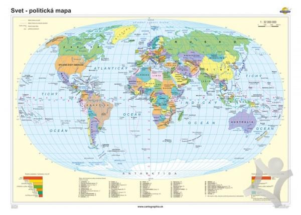 Svet Politicka Mapa 140x100 Cm 1 32000000 Nastenna
