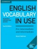 English Vocabulary in Use Pre-Intermediate and Intermediate with Key 4th Edition (Stuart Redman)