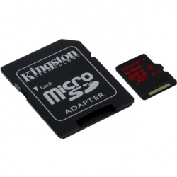 KINGSTON -- Micro SDHC 64GB UHS-I U3 + adaptér