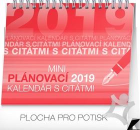 Mini plánovací kalendár s citátmi - stolový kalendár 2019   kniha ... 36938dc3c5