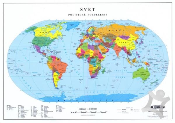 Svet Politicka Mapa 1 85 Mil Laminovana Mapa Pre Zakladne