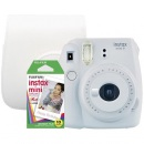 Fujifilm Instax Mini 9 smo white + 10ks film + puz